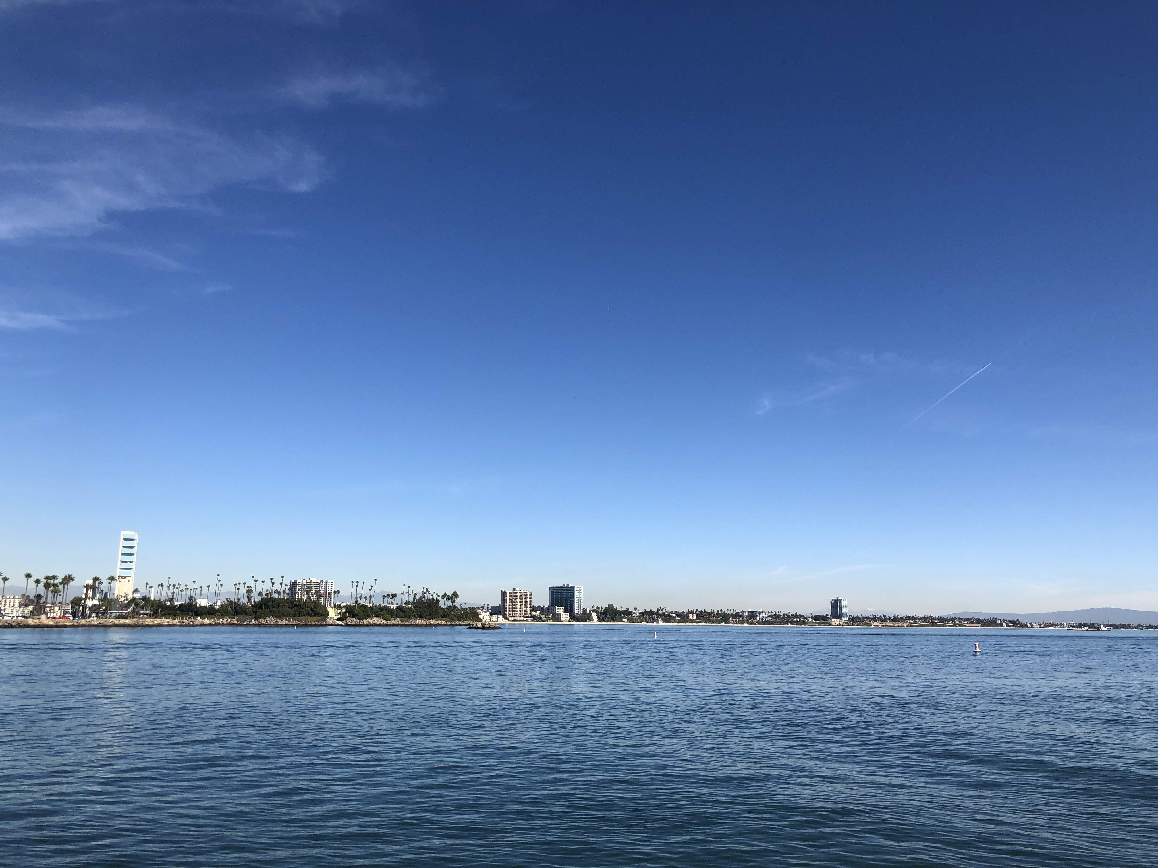 An ocean view of long beach. This is the standard destination for the nautical science staff voyage, as there's plenty of stuff to do on shore and we can easily meet up to do scheduling for the semester.